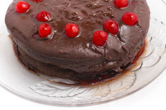 Torta de chocolate hecha en casa imagen de archivo libre de regalías