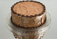 Torta de chocolate hecha en casa foto de archivo libre de regalías