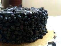 Torta de chocolate de los microprocesadores del negro de Delecious foto de archivo libre de regalías