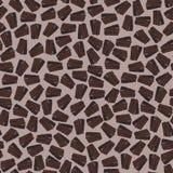 Torta de chocolate Modelo inconsútil con los brownie del chocolate en esmalte del chocolate Imagen de archivo