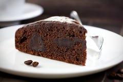 Torta de chocolate oscura fotos de archivo libres de regalías