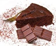 Torta de chocolate oscura foto de archivo