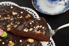 Torta de chocolate oscura Imagen de archivo libre de regalías