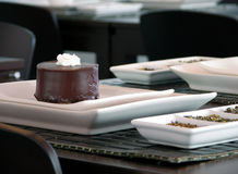 Torta de chocolate oscura Fotografía de archivo