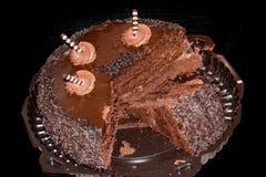 Torta de chocolate oscura Imagenes de archivo