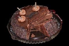 Torta de chocolate oscura Fotografía de archivo libre de regalías