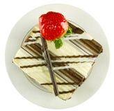 Torta de chocolate oscura y blanca Fotos de archivo libres de regalías