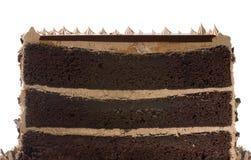 Torta de chocolate por la mitad imágenes de archivo libres de regalías