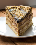 Torta de chocolate sabrosa del soplo Foto de archivo