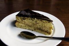 Torta de chocolate servida Fotos de archivo libres de regalías