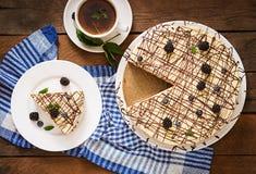 Torta de chocolate y x22; Bird& x27; milk& x22 de s; Imagen de archivo
