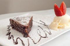 torta de cioccolato d'Al Images libres de droits