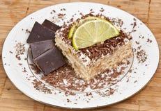Torta de coco con el chocolate Foto de archivo libre de regalías