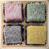 Torta de coco de Lamington Fotografía de archivo