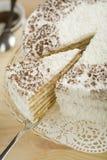 Torta de Coconu Foto de archivo libre de regalías