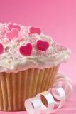 Torta de corazones Foto de archivo libre de regalías