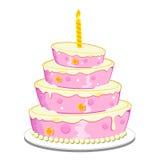 Torta de cumpleaños stock de ilustración