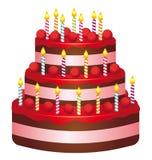 Torta de cumpleaños ilustración del vector
