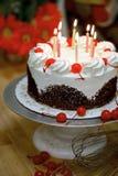 Torta de cumpleaños Foto de archivo libre de regalías