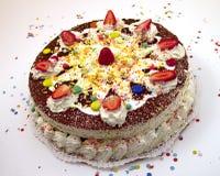 Torta de cumpleaños 4 Foto de archivo libre de regalías