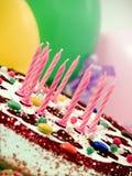 Torta de cumpleaños Fotos de archivo