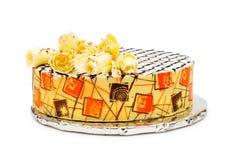 Torta de cumpleaños aislada fotografía de archivo libre de regalías