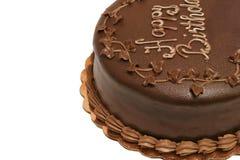 Torta de cumpleaños - chocolate foto de archivo libre de regalías