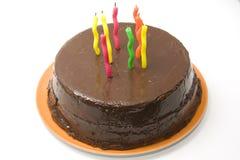 Torta de cumpleaños con las velas Foto de archivo