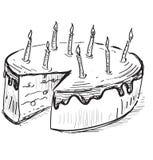 Torta de cumpleaños con las velas Fotografía de archivo libre de regalías
