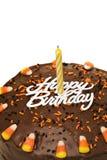Torta de cumpleaños de la caída fotos de archivo libres de regalías