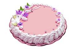 Torta de cumpleaños de la muchacha Imágenes de archivo libres de regalías