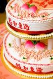 Torta de cumpleaños del chino tradicional Fotografía de archivo libre de regalías