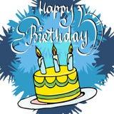 Torta de cumpleaños del ejemplo Fotos de archivo libres de regalías