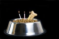 Torta de cumpleaños del perro Imagen de archivo libre de regalías