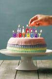 Torta de cumpleaños del Pinata Foto de archivo