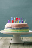 Torta de cumpleaños del Pinata Fotografía de archivo