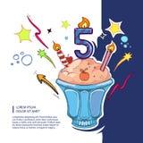 Torta de cumpleaños dulce Foto de archivo libre de regalías