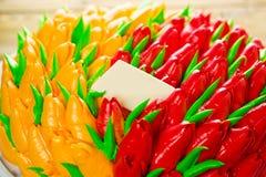 Torta de cumpleaños hermosa Imagen de archivo