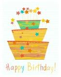 Torta de cumpleaños linda Fotografía de archivo
