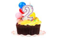 Torta de cumpleaños para dos años Imagen de archivo libre de regalías