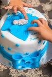 Torta de cumpleaños para el bebé Fotografía de archivo libre de regalías