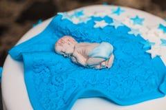 Torta de cumpleaños para el bebé Imágenes de archivo libres de regalías