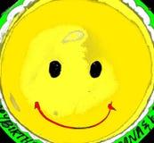 Torta de cumpleaños sonriente Imágenes de archivo libres de regalías