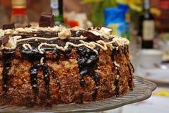 Torta de cumpleaños deliciosa Fotografía de archivo