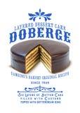 Torta de Doberge de la colección de la cultura de New Orleans imágenes de archivo libres de regalías