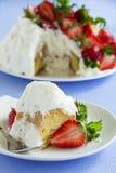 Torta de esponja Angel Food Imagen de archivo libre de regalías