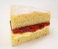 Torta de esponja del atasco y de la crema Foto de archivo