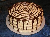 Torta de esponja hecha en casa Imagenes de archivo