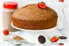 Torta de esponja italiana del chocolate fotografía de archivo