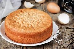 Torta de esponja italiana Pan di Spagna Fotografía de archivo
